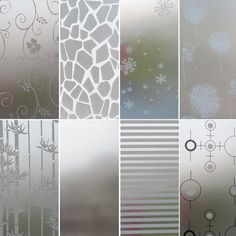 Diy Frosted Glass Window, Frosted Glass Sticker, Frosted Glass Design, Frosted Window Film, Glass Sticker Design, Window Glass Design, Glass Cabinet Doors, Glass Shower Doors, Glass Front Door