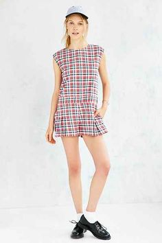 RYDER X UO Checkered Romper