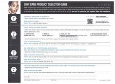 AVON ANEW SKIN CARE PRODUCT SELECTOR GUIDE.  Order AVON products at www.youravon.com/jfreemyers