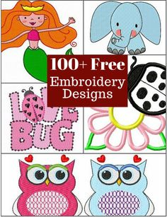 Over 100 free embroidery designs for you to download.