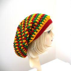 Custom Adult  Rasta Reggae Crochet Hat  for Dreadlocks Dreads Made to order £15.00