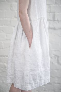 Linen dress. White linen loose dress by notPERFECTLINEN on Etsy