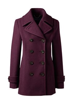 Wool Peacoat from Lands' End