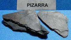 Pizarra.roca metamórfica (metamorfismo general o regional).....