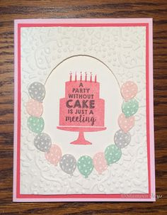 Stampin days; party wish stamp set, party punch pack, confetti textured impressions embossing folder, Stampin' UP!