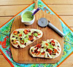 Be Gluten Free - Brighton : BLT Naan Pizzas with Avocado Yoghurt Sauce