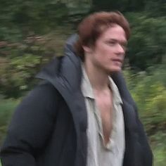 Sam Heughan .... behind the scenes on Outlander set