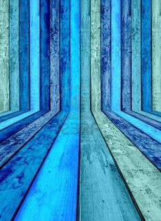 Blauwe houten kamer Stockfoto