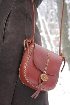 Items similar to READY TO SHIP. tall tree in cherry wood red vegetable tanned leather. under the tree. on Etsy Red Vegetables, Fabric Bags, Vegetable Tanned Leather, Leather Purses, Leather Bags, Leather Working, Leather Craft, Saddle Bags, Pouch