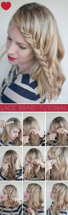 Hair Romance - Lace Braid Hairstyle Tutorial by lupita m