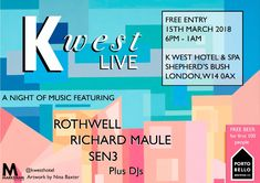 #housemusic 'K West Live' - Launch of Monthly Music Nights: K West in Shepherds Bush, a Bushstock Festival venue, will launch 'K West Live'…