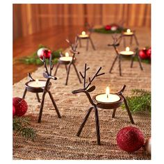 Set Of 6 Reindeer Tea Light Candle Holder Holiday Christmas Home Decor Holders Country Christmas, Christmas Home, Christmas Crafts, Elegant Christmas, Christmas Lights, Ladder Christmas Tree, Christmas Bells, Christmas 2019, Simple Christmas