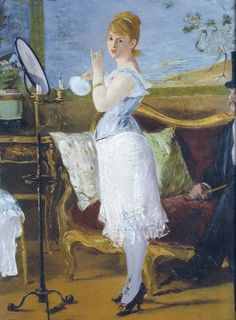 Edward Manet - Nana, 1877 - Lady of the night or prostitute, rejected at the Parisian Salon