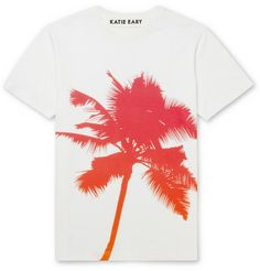 Katie Eary Palm-Print Cotton-Jersey T-Shirt | MR PORTER