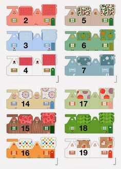 Pass it on Pay it forward: Advent calendars (day Advent calendars (day . Advent Calendar House, Christmas Calendar, Diy Calendar, Christmas Paper, All Things Christmas, Christmas Holidays, Christmas Decorations, Advent House, Calendar Activities