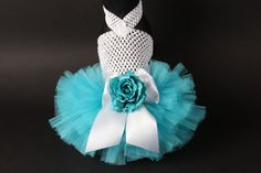 Hey, I found this really awesome Etsy listing at https://www.etsy.com/listing/185033766/aqua-rose-tutu-dress