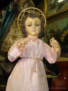 Impactante Niño Jesús de vestir o cap y pota
