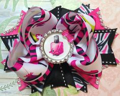 SOLD!!! Shopkins Bow/Polly Polish Bow/Shopkins Polly Polish Hair Bow/High Heel Shoe Bow/Shopkins Girls Hair Bow/Girly Curl Bow/Fashion Hair Bow by GirlyCurlBowtique on Etsy