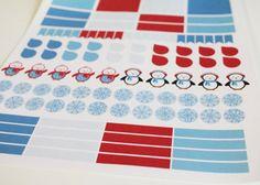 Winter Planner Kit Life Planner Stickers Scrapbook by AlexStudio