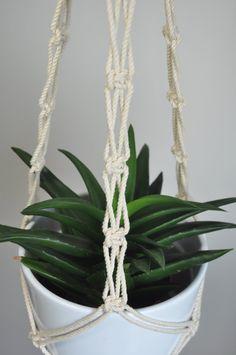 boho macrame, macrame plant hanger, hanging planter, natural cotton plant holder, ecru macrame planter, fibreart plant hanger, indoor garden