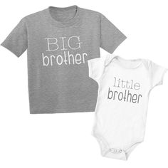 9ae83610 Grey Big Brother Little Brother Shirts Big Brother Little Brother Sibling  Matching T-Shirts