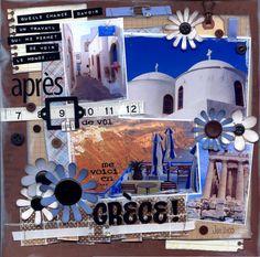 Greece - Scrapbook layout