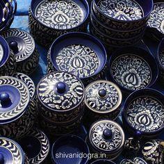 Shivani Dogra is a multi-disciplinary design studio based in New Delhi, India Pottery Painting Designs, Pottery Designs, Paint Designs, Blue Pottery Jaipur, Concrete Crafts, Fabric Painting, Ceramic Pottery, Tea Set, Home Interior Design