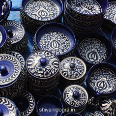 Blue pottery: Discover more at http://shivanidogra.in/
