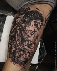 Vagabond tattoo Home Tattoo, Get A Tattoo, Tatuagem One Piece, Traditional Tattoo Black And White, Vagabond Manga, Sketch Style Tattoos, Tattoo Designs, Anime Tattoos, Geek Tattoos