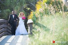 Bride and father walking down aisle to beach ceremony at destination beach wedding in Hilton Head. NO TRAVEL FEES IN THE US!