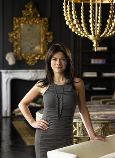Talented AND beautiful. This woman has it. Remodelista-Kara-Mann-Chicago-showroom-gilt-mirror-gilt-chandelier