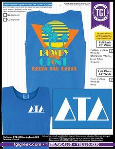 TGI Greek - Delta Tau Delta - Spring Tropical Tank - Comfort Colors - Greek T-shirts  #tgigreek #deltataudelta