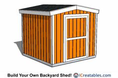 The plans for this shed will help you easily build your own short 8 feet tall gable shed. Check out our website to search through our large selection of gable shed plans. 6x8 Shed, Free Shed, Shed Floor, Build Your Own Shed, Large Sheds, Floor Framing, Storage Shed Plans, Outdoor Tools, Shed Homes