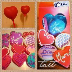 Corazones <3  #Cookies #Pops #Love #Amor