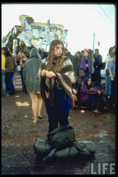 "August 1969 | Woodstock ""this girl looks just like my cousin Shannon Hernandez-Driver when we went to the WoodStock 25th year reunion"" ""poor gurl, it was raining & she was so sad"" ""boyee I miss the good times we had"""