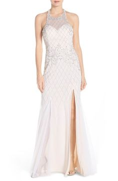 65bcc252c1 Sean Collection Beaded Mesh Gown Bridesmaid Dresses