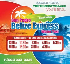 WATER TAXI Transportation in Belize