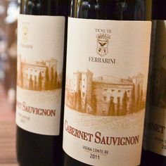 Our #Cabernet Sauvignon #Ferrarini is made from grapes harvested in Ferrarini's clay rich vineyards, 300 meters above sea level.  #LoveItaly #wine #winelover #italy