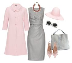 """Pink and grey"" by catalina86 ❤ liked on Polyvore featuring Vera Mont, MaxMara, Maison Margiela, RED Valentino and REINHARD PLANK"