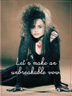 Bellatrix Lestrang Valentine by Yenniper. Printable image and 7 more Harry Potter-themed Valentines at the source.