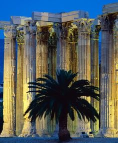 The temple of Olympian Zeus, Athens Greece