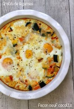 Gratin de légumes façon œuf cocotte. Pour un plat complet plutôt light!