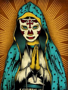 Our Lady of Lucha Libre PALEHORSE design