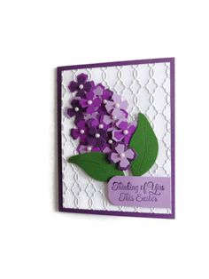Lilac Flower Easter Card Spring Card by lilaccottagecards on Etsy