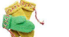 Katso neuleohjeet ja video, joiden avulla opit neulomaan helpot lapaset ilman peukalokiilaa Novitan Huopanen-langasta. Knit Mittens, Knitting Socks, Hand Knitting, Knitted Hats, Knit Socks, Winter Hats, Gloves, Tuli, Fashion