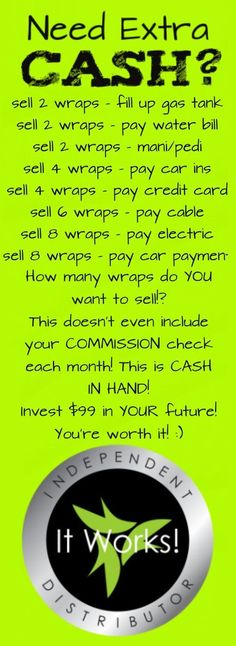 Need extra cash? #ItWorks Join me!