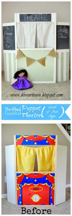 Thrifted Puppet Theatre Facelift (Land of Nod Style) - Bless'er House