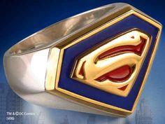 Anillo sello Superman, clásico