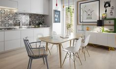 Dining table and chairs.  10 Stunning Apartments That Show Off The Beauty Of Nordic Interior Design