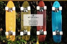 Atypical is a brand born in specialized in fine handmade cruisers and apparel. The decks are handcrafted in Italy using solid ash wood. Atypical, Fall Collections, Polka Dots, Handmade, Design, Products, Hand Made, Polka Dot